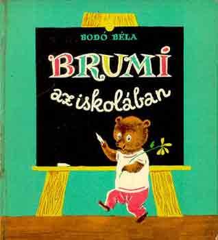 Brumi az iskolában című könyvünk borítója