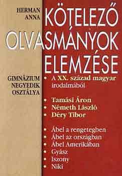 Kötelező olvasmányok elemzése 7. (gimnázium 4. osztály) című könyvünk borítója