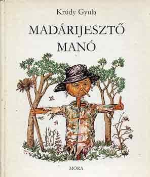 Madárijesztő manó című könyvünk borítója