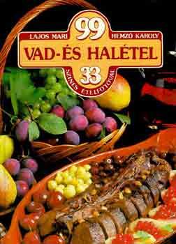 99 vad- és halétel 33 színes ételfotóval című könyvünk borítója