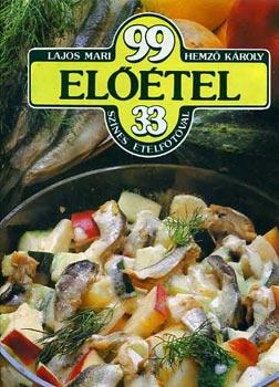 99 előétel 33 színes ételfotóval című könyvünk borítója