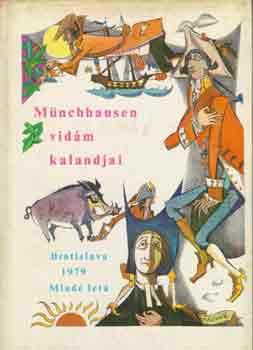 Münchhausen vidám kalandjai című könyvünk borítója