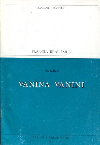Vanina vanini (Populart füzetek) című könyvünk borítója